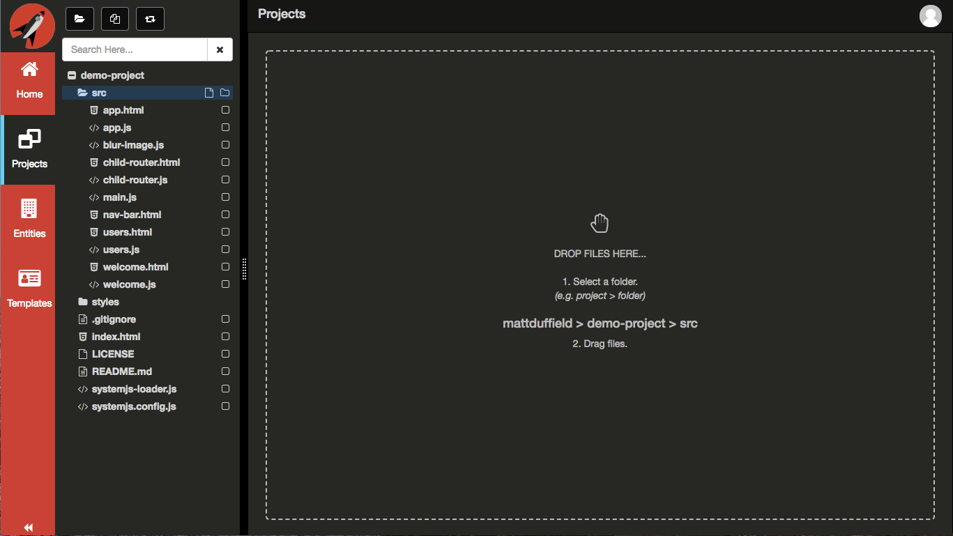 Upload Files · FrontEnd Creator